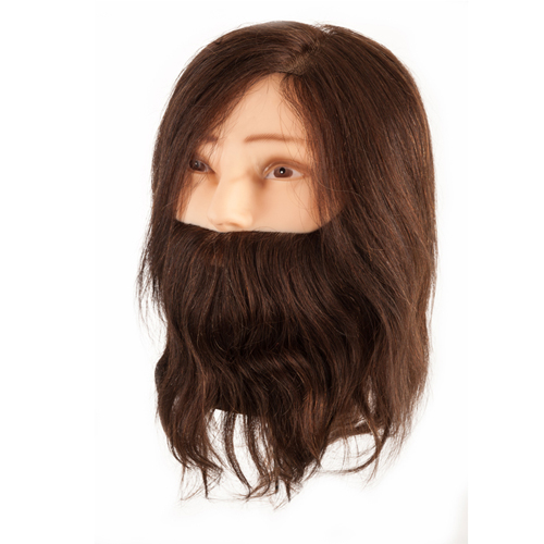 Cabeça Académica Cabelo Natural Homem Com Barba