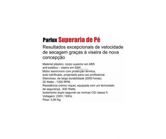 SECADOR DE CABELO COM PÉ ARIA 3 VEL-PRETO