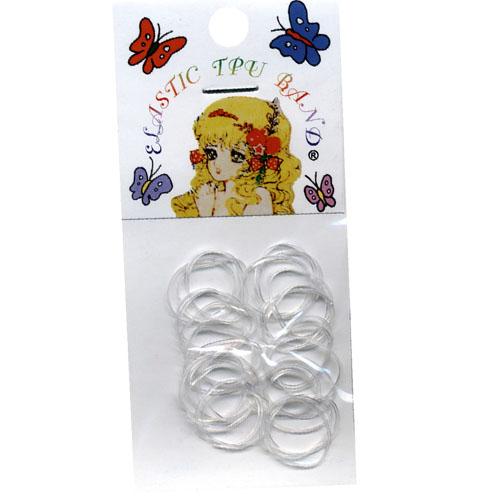 Elásticos Cabelo Rubber Band Transparentes 30 Unidades