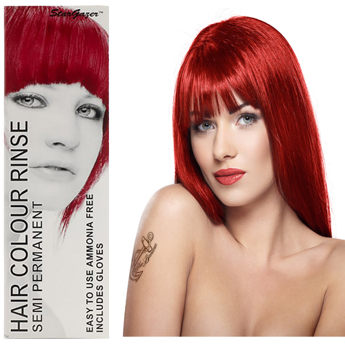 Stargazer Semi Permanente Hair Dye ROUGE Red -70ml