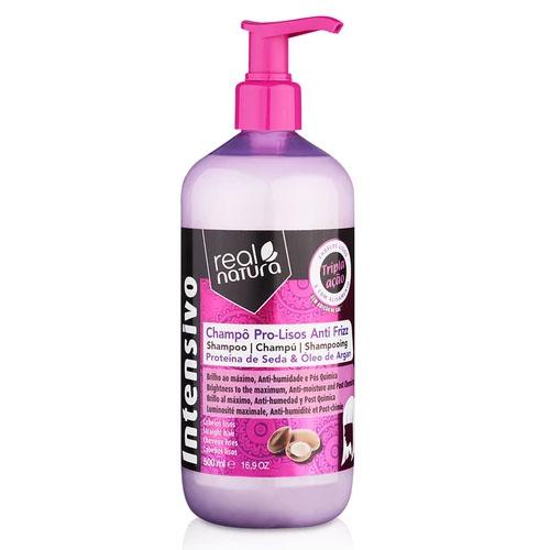 Real Natura Shampoo Pro Lisos Anti Frizz 500 ml