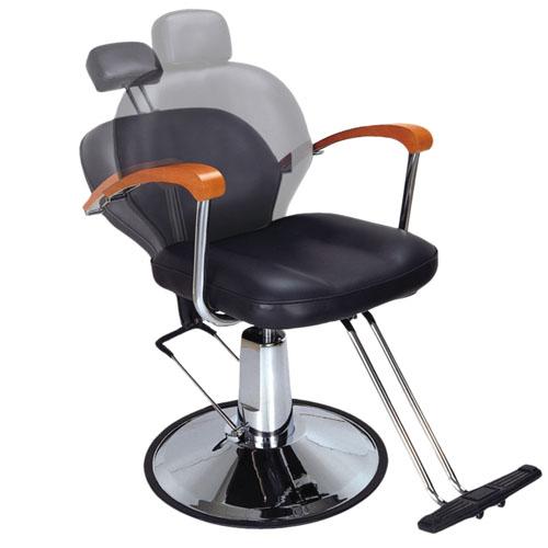 Cadeira Maquilhagem Inclinável Preta 02975/50