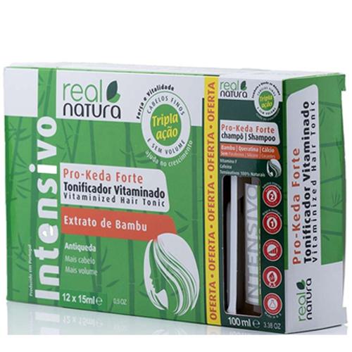 Real Natura Kit 12 Ampolas Anti Queda