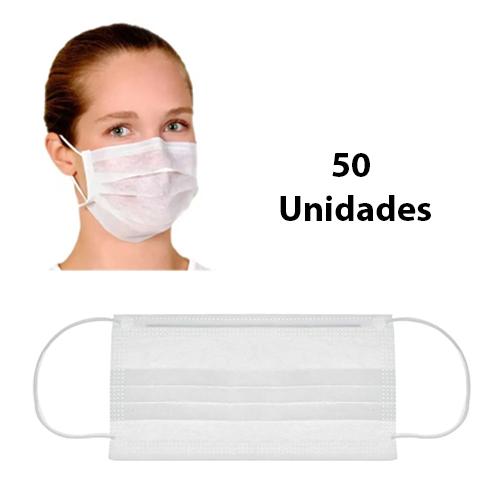Máscara Descartável - Embalagem 50 unidades