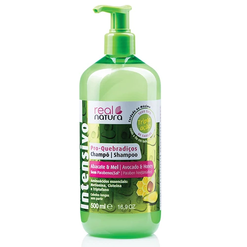 Real Natura Shampoo Pro-Quebradiços Sem Sal 500ml