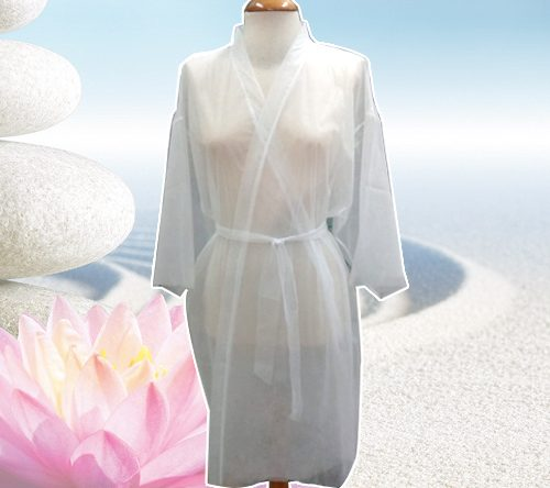 Kimono TNT Branco com Mangas