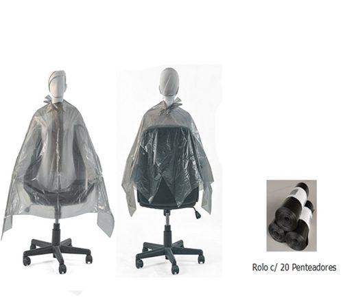 Penteador Descartável Plástico Tinta 20 Unidades