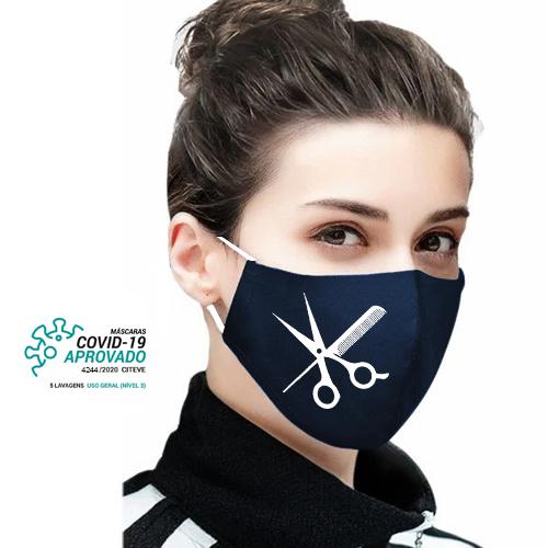 Máscara Social Reutilizável Certificada Lavável Personalizada