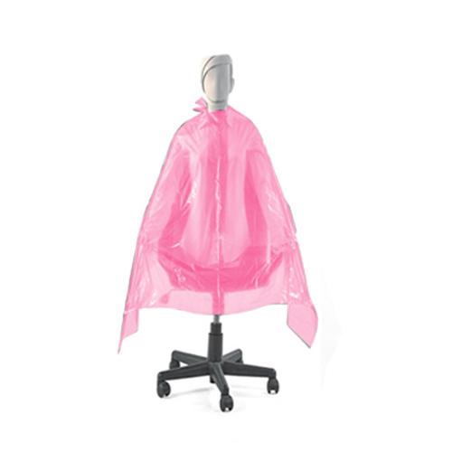 Penteador Descartável Plástico Rosa Tinta 20 Unidades