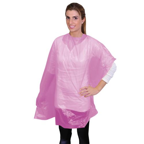 Penteadores Descartáveis Plástica Rosa 50 Unidades
