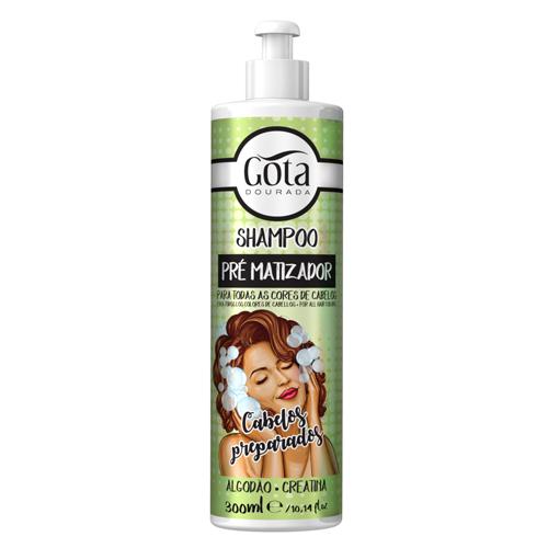 Gota Dourada Shampoo Pré-Matizador 300ml