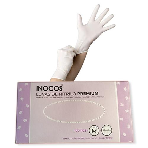 Luvas Nitrilo Premium Tamanho M Inocos - 100 Unidades