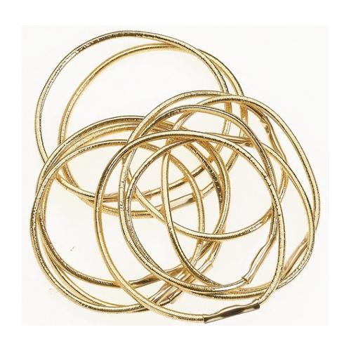 Elásticos Para Cabelo Dourados - 10 Unidades