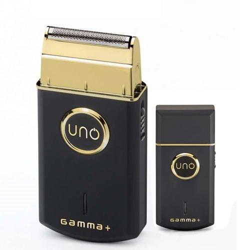 Gamma+ Uno Shaver Pocket Cor - Preto e Dourado