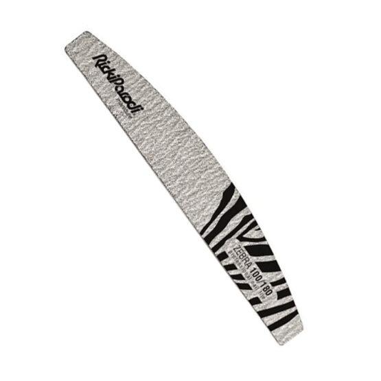 Lima Unhas RickiParodi Zebra 100 180 Meia Lua - 10 Unid