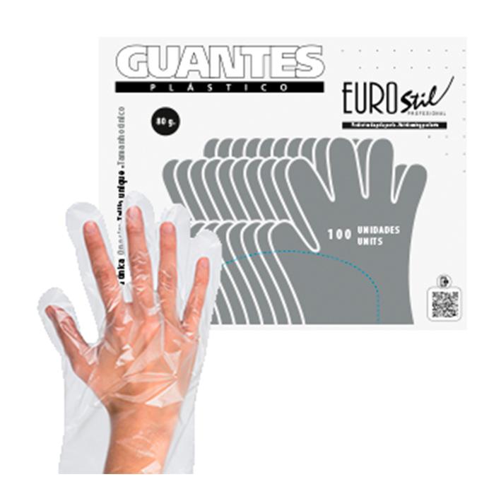 Luvas Plástico Descartáveis - 100 unidades