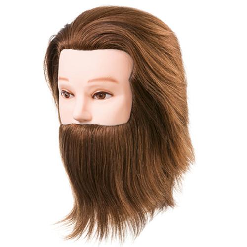 Cabeça Académica Cabelo Natural Homem Com Barba-04908