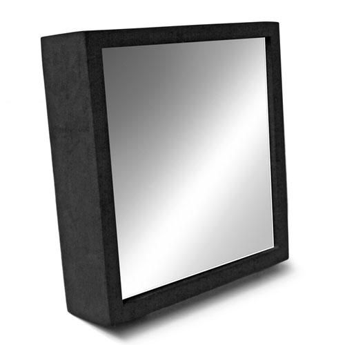 Espelho Rickiparodi Inquebrável Eva Preto 17 cm