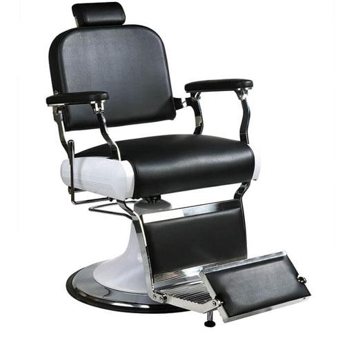 Cadeira De Barbeiro Profissional Retro Preta
