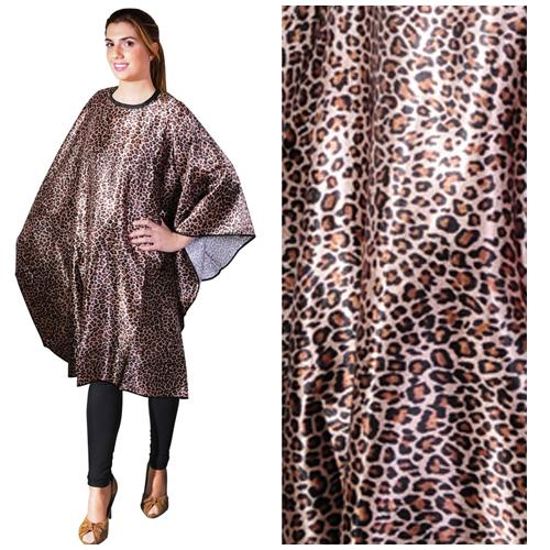 Penteador Corte Cabelos Leopardo 03523