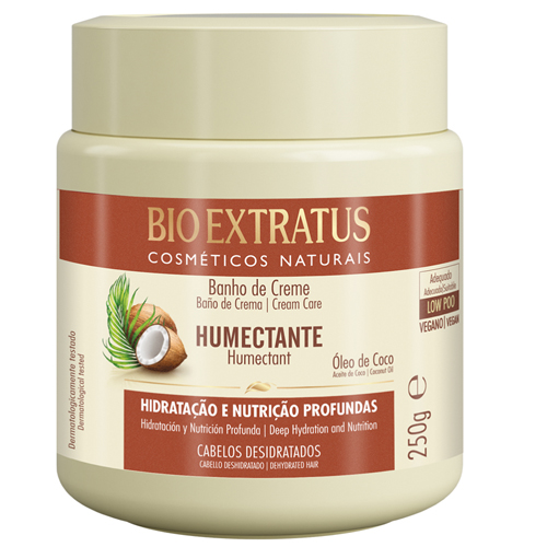 BioExtratus Mascara Umectante Óleo Coco 250ml