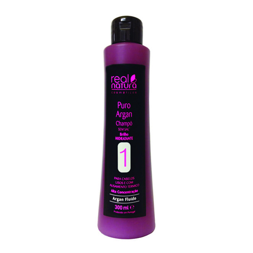 Real Natura Shampoo Sem Sal Puro Argan - 300ml