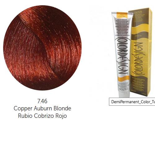Tinta Colordesign Sem Amoníaco 100ml-Cor 7.46